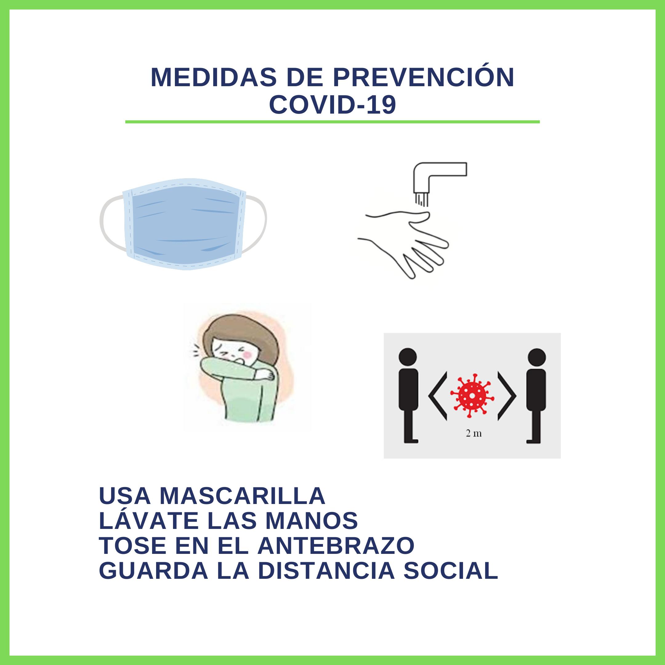 Medidas de prevención COVID-19 AUVEA